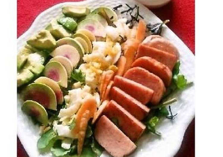 Simple Way to Make Homemade Cobb Salad with Homemade French dressing