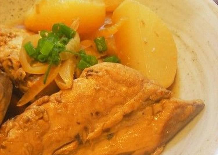 Yellowtail and Daikon Radish Stew (Inada to Daikon no Nimono)