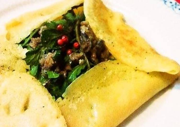 Best Comfort Dinner Easy Award Winning Anchovy and Rocket Cheese Crepe