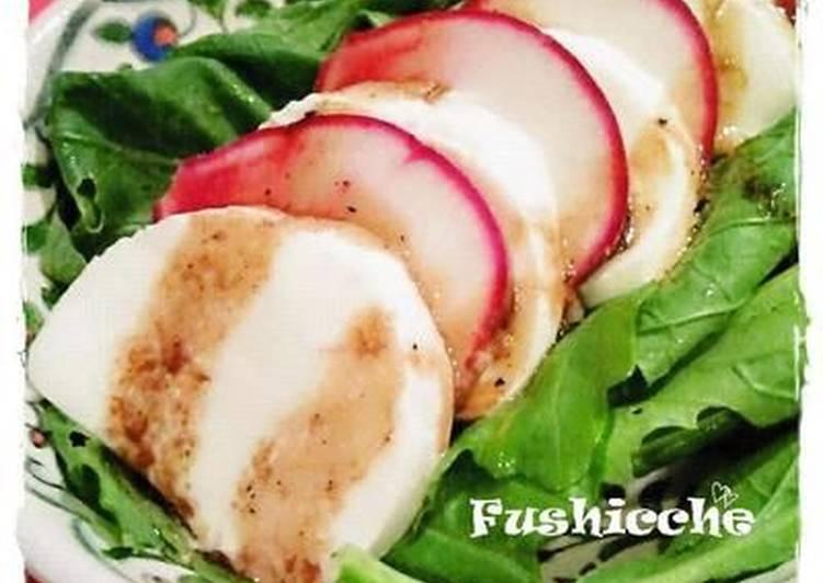 Mozzarella Cheese and Turnip Salad