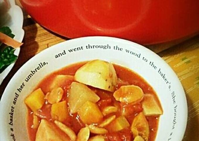 Root Vegetable and Split Pea Tomato Soup