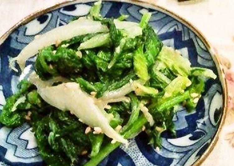 Steps to Prepare Super Quick Homemade Nappa Cabbage and Mustard Green Ohitashi