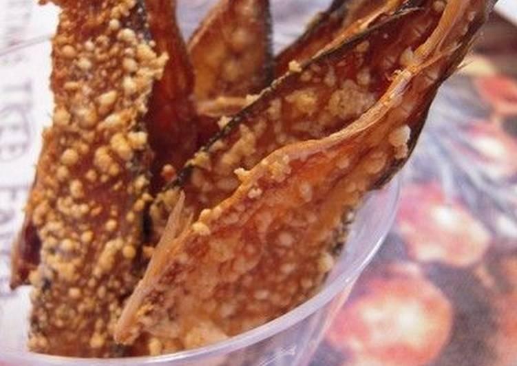 Recipe of Homemade Fish Bone Chips (Aji no Hone Senbei)