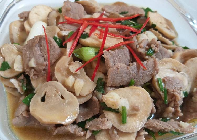 Cah jamur daging
