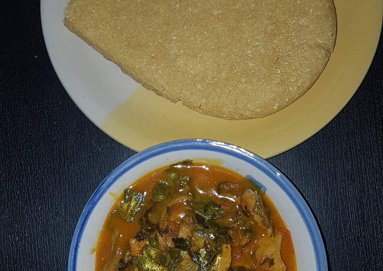 15 Minute Step-by-Step Guide to Prepare Quick Oha soup and Eba