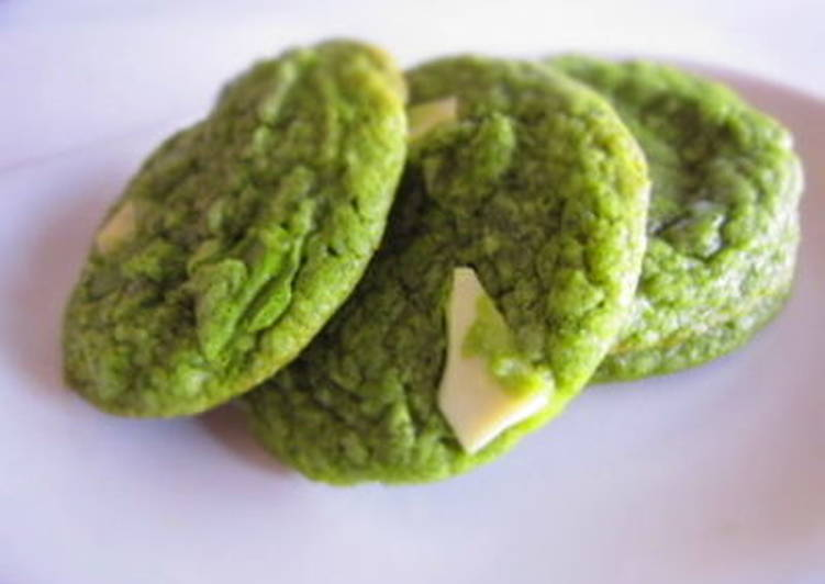 Simple Way to Make Award-winning Matcha Green Tea and White Chocolate Cookies