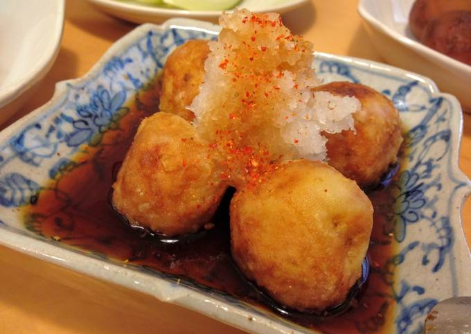 Steamed Potatoes with Grated Daikon Dressing