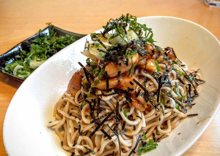 Recipe: Yummy Teriyaki Chicken Soba (Buckwheat Noodles)