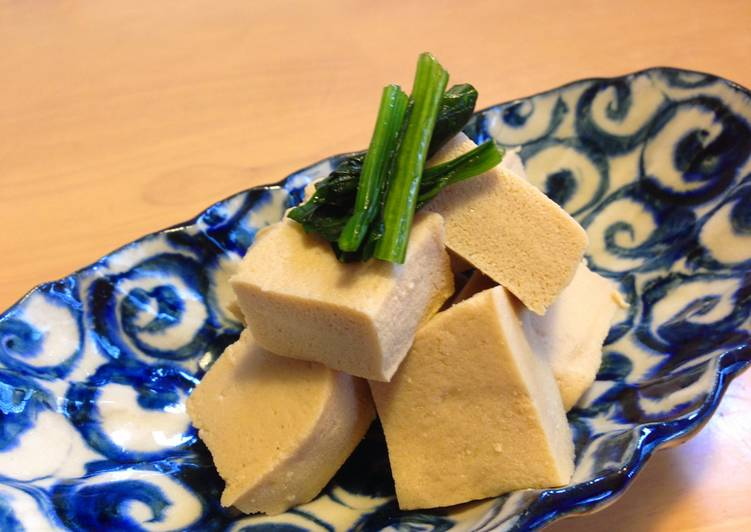 Recipe of Perfect Simmered Koyadofu (Freeze Dried Tofu)