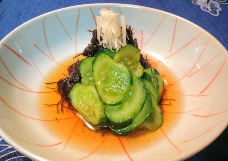 15 Minute Step-by-Step Guide to Prepare Fall Mozuku Seaweed Vinegar