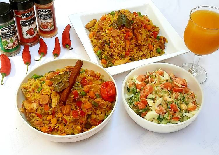 Recipe of Quick Sausage and shredded chicken fried rice