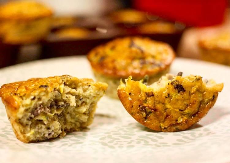 Muffin au quinoa, champignon, courgette et chèvre