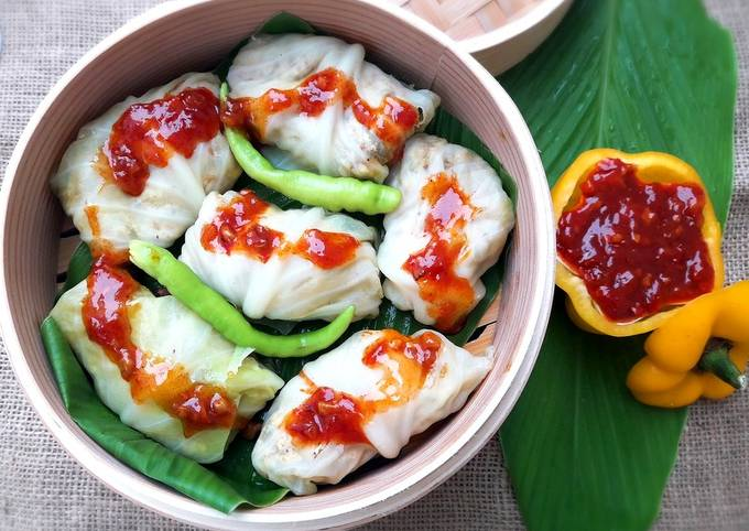 Steamed & Stuffed Cabbage Wraps