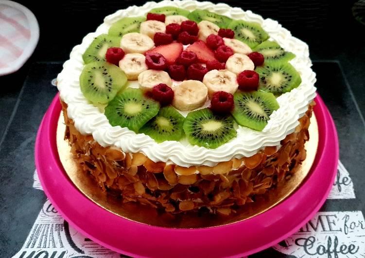 Gateau fruits Chantilly mascarpone 🥰
