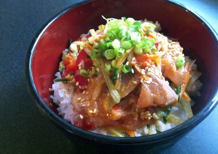 Spicy Salmon Salad Don