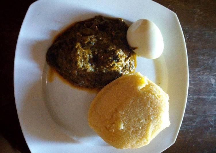 Recipe of Super Quick Homemade Banga soup with boiled egg and Eba