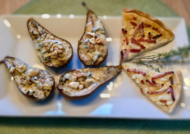 Gorgonzola-Birnen aus dem Ofen 🍐