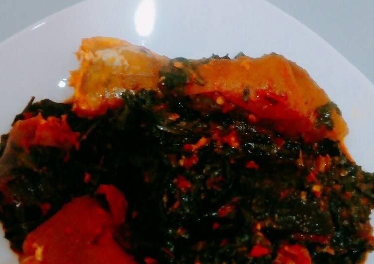African Cuisine Efo Riro (spinach Stew)