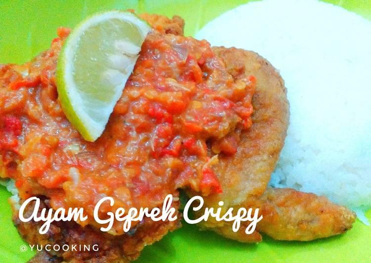 Ayam Geprek Crispy Minimalis