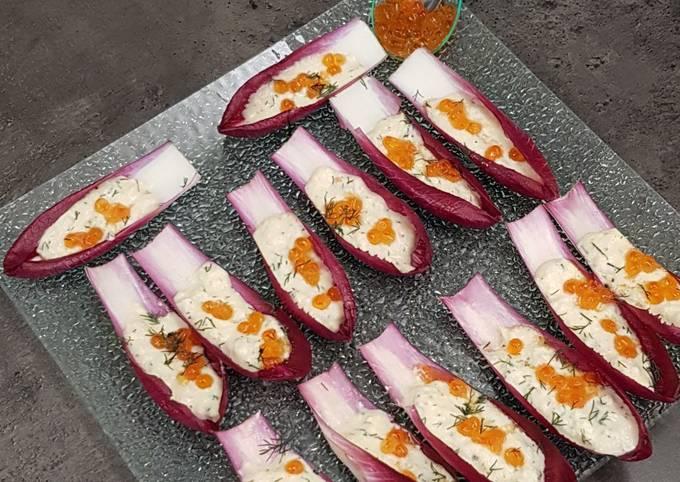 Barquettes au crabe et oeufs de saumon