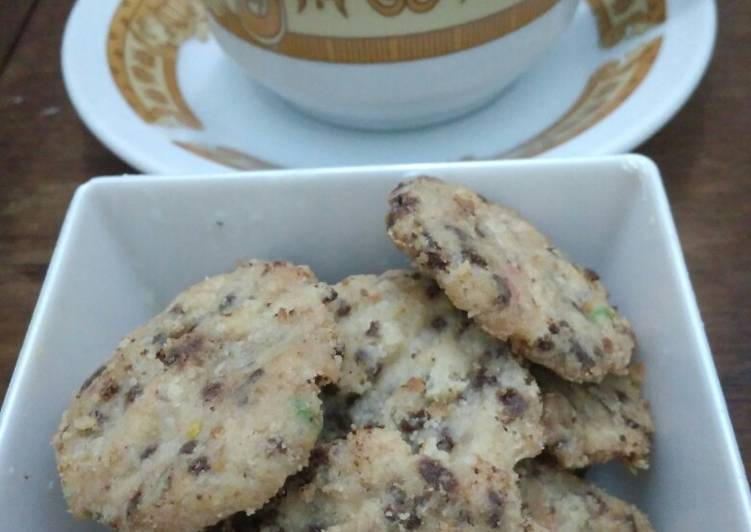Oat choco cookies (takaran sendok)