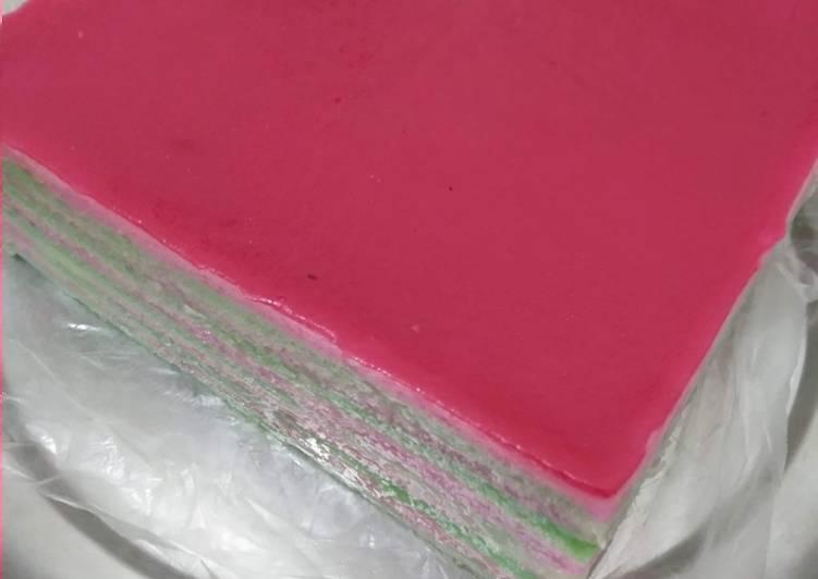 Kue Talam lapis tepung beras - cookandrecipe.com