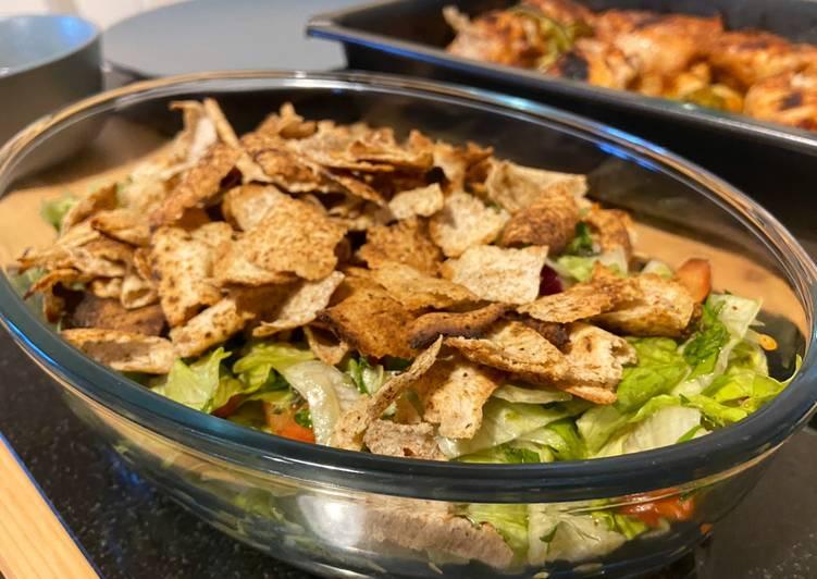 5 Minute Recipe of Blends Fattoush - Lebanese salad