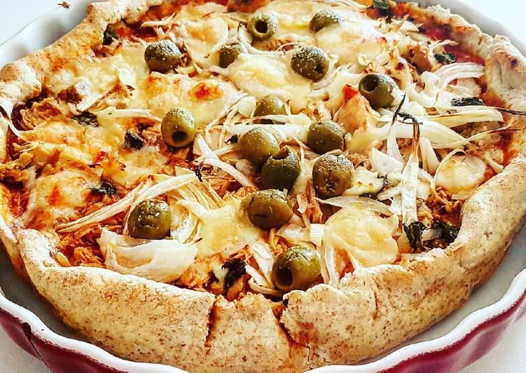 Tarte au thon pâte à pizza au blé complet