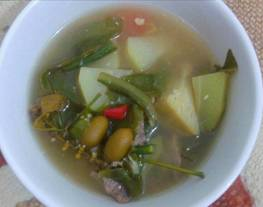 Sayur asem betawi (sayur asem daging sapi)