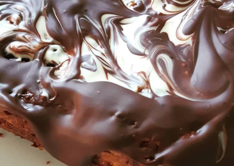 Simple  Brownie marbré