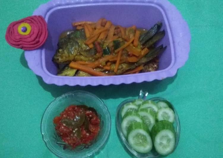 Pesmol ikan mas wortel