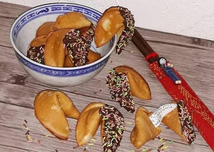 Comment Préparer Les ☆Fortune Cookies☆ Biscuits Porte-bonheur Chinois ☆
