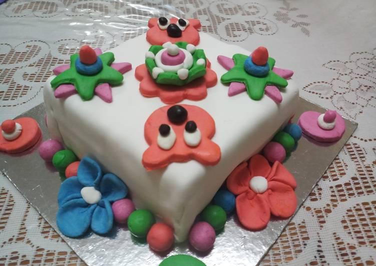 Simple Way to Make Quick Fondant Cake