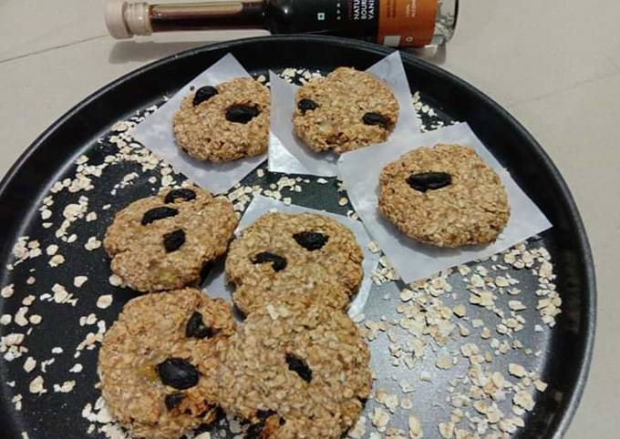 Recipe: Tasty Banana oats cookies