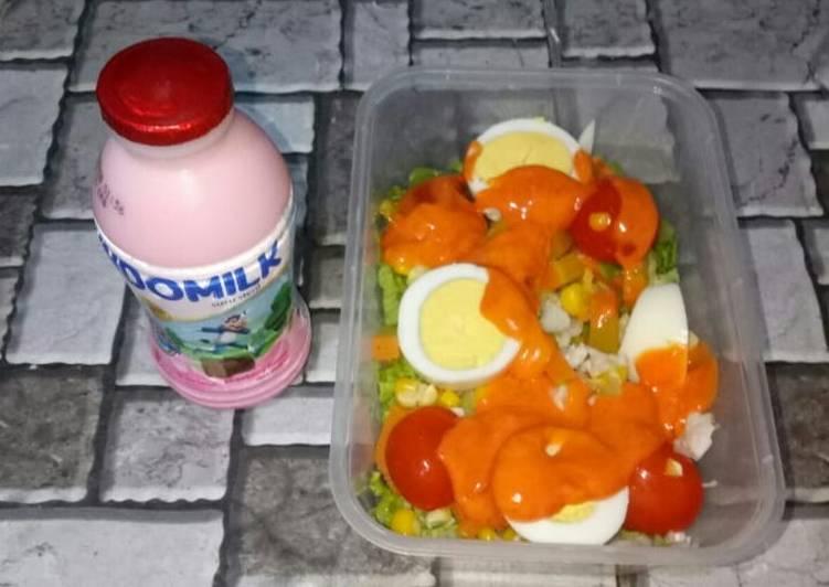 "BEKAL SUAMI (4 sehat, 5 sempurna) ""salad sayur"""