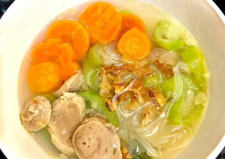 Resep Sup Oyong Soun Bening Yang Lezat Resep Masakanku