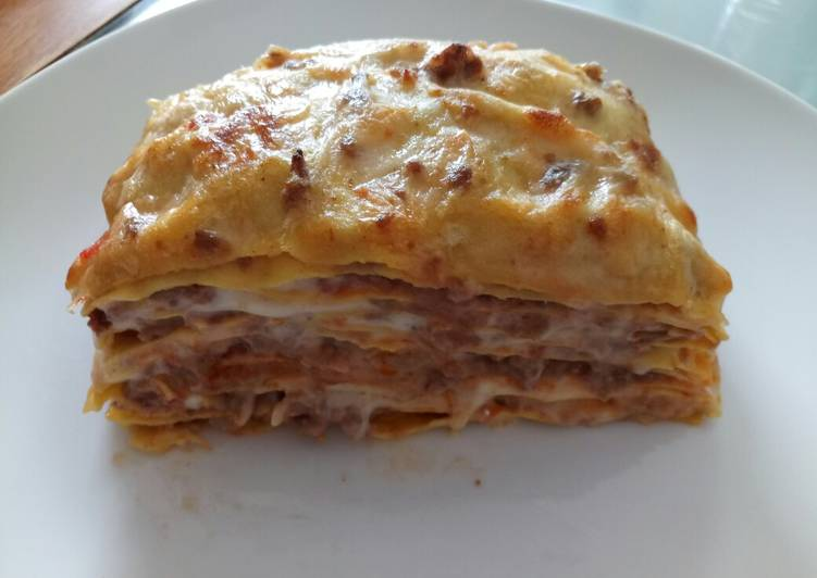 Lasagne with porcini mushrooms