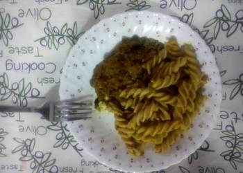 Easiest Way to Cook Tasty Brown Spiral Pasta  Beans