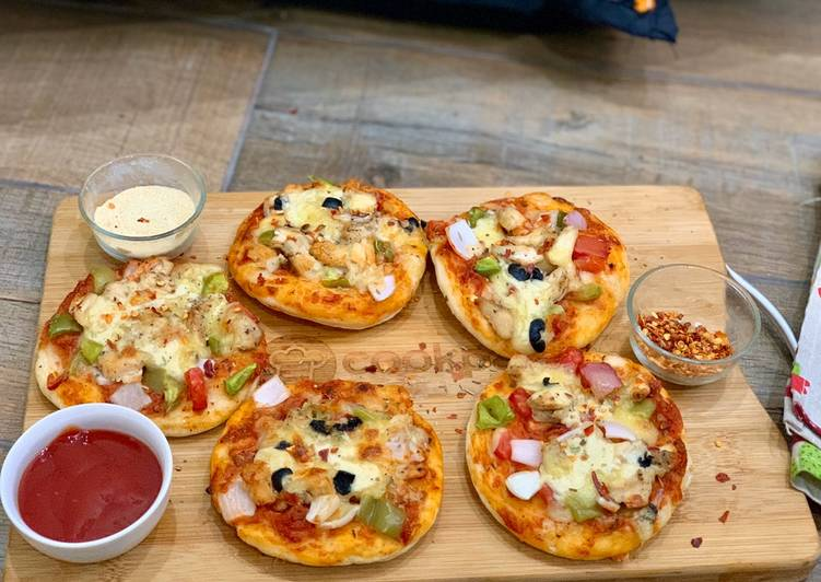 Simple Way to Make Quick Mini pizza bites- part 3 (dough and assembling)