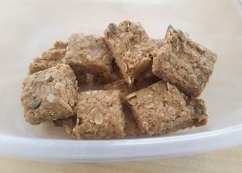 Easiest Way to Prepare Tasty No Bake Peanut Butter Oat Bars