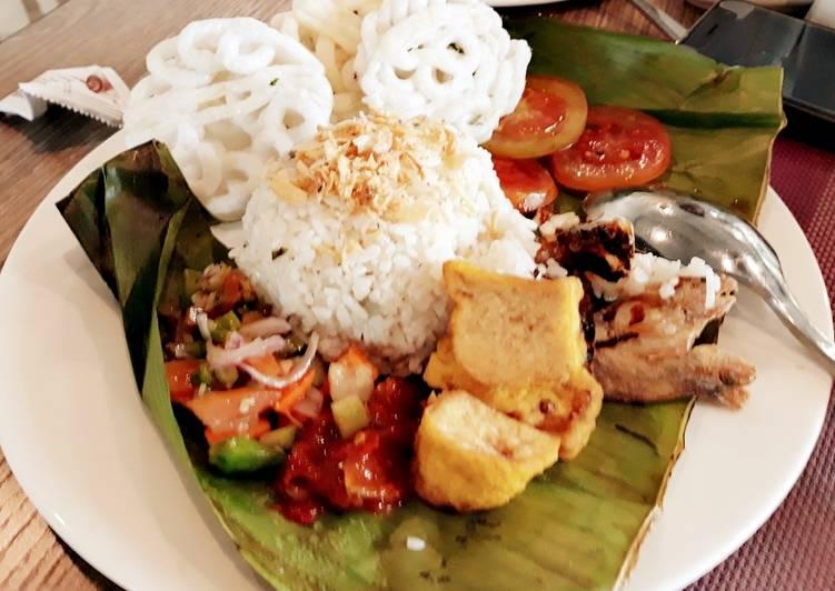 Nasi liwet ricecooker sambal matah