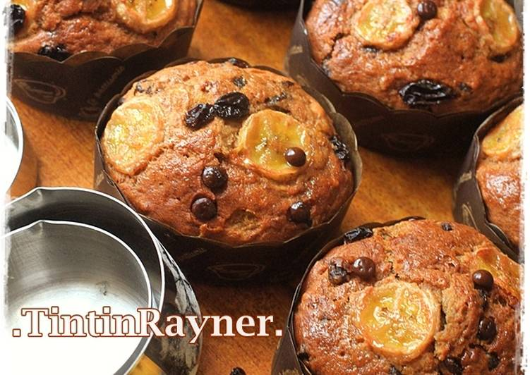 Resep The Best Banana Muffin EVER,Super moist NO mixer Paling dicari