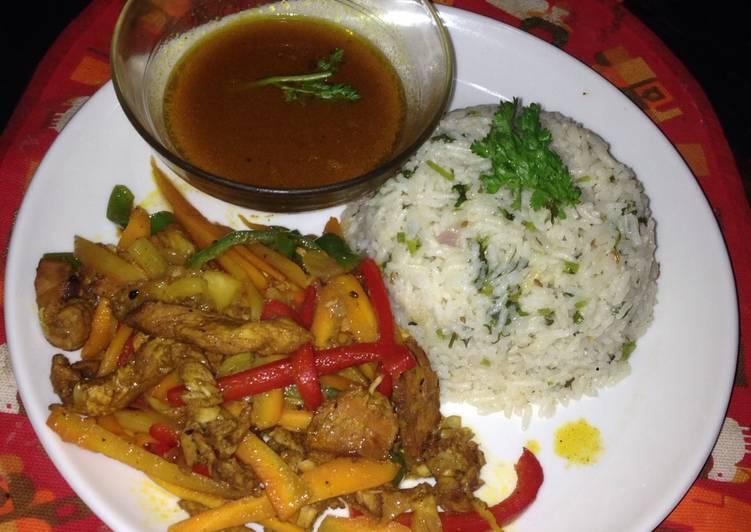 Coriander and cumin rice