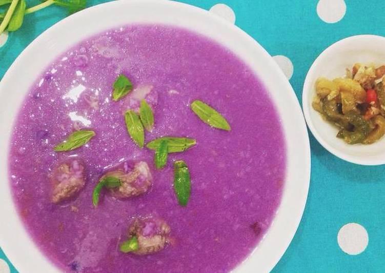 Purple Yam Soup with Pork