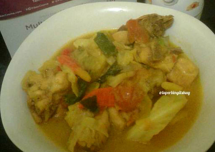 Tongseng ayam fiber creme /menu diet kalori