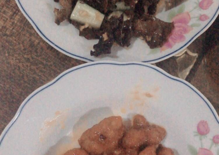 """Sweet and sour chicken (""""tang chu"""" chicken)"""