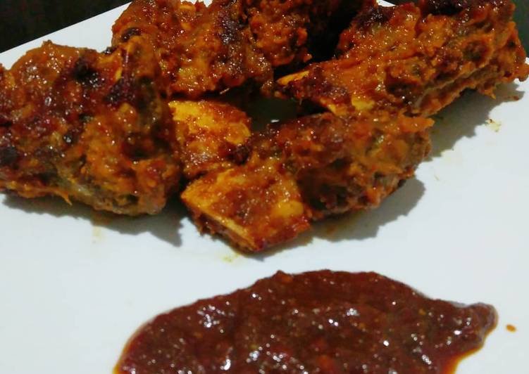 Roasted Beef Ribs with Milk Coconut  -Original Recipe by me-