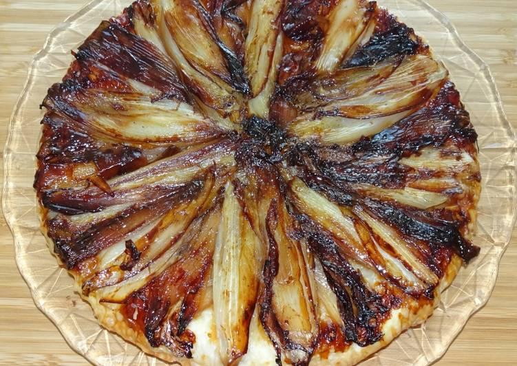 Recipe: Yummy Tarte tatin d'endives et d'échalotes (vegan) (#1recette1arbre #onerecipeonetree #entreeschics)
