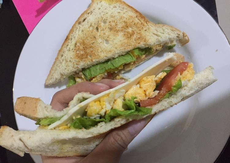 Sandwich sehat Roti Gandum