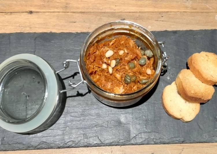 Recipes  Rillettes de thon et tomates séchées